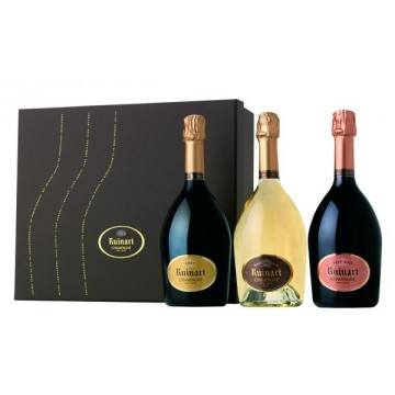 COFFRET CHAMPAGNE- COLLECTION RUINART (France - Champagne - Champagne AOC - Champagne Blanc - 0,75 L)
