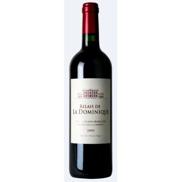 RELAIS DE LA DOMINIQUE 2009 - SECOND VIN DU CHATEAU LA DOMINIQUE (France - Vin Bordeaux - Saint-Emilion Grand Cru AOC - Vin Rouge - 0,75 L)