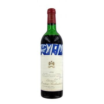 CHATEAU MOUTON ROTHSCHILD 1976 (France - Vin Bordeaux - Pauillac AOC - Vin Rouge - 0,75 L)