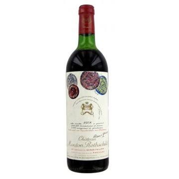 CHATEAU MOUTON ROTHSCHILD 1978 (France - Vin Bordeaux - Pauillac AOC - Vin Rouge - 0,75 L)