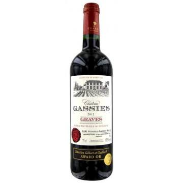CHATEAU GASSIES 2012 (France - Vin Bordeaux - Graves AOC - Vin Rouge - 0,75 L)