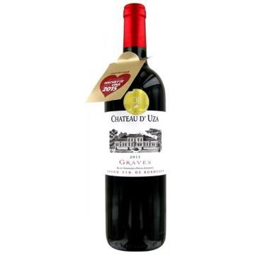 CHATEAU D'UZA 2011 (France - Vin Bordeaux - Graves AOC - Vin Rouge - 0,75 L)