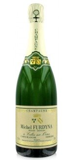 CHAMPAGNE MICHEL FURDYNA- DEMI SEC - CARTE BLANCHE - ( France-Champagne-Champagne AOC-Blanc-0,75L ) etiquette abimee