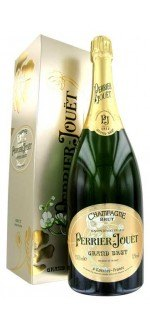 MAGNUM - CHAMPAGNE PERRIER JOUËT - GRAND BRUT - AVEC ETUI (France - Champagne - Champagne AOC - Champagne Blanc - 1,5 L)