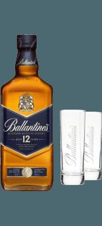 BALLANTINE'S 12 ANS + 2 VERRES OFFERTS