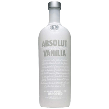 ABSOLUT VANILIA - VODKA AROMATISEE A LA VANILLE - ABSOLUT VODKA