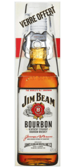 BOURBON JIM BEAM WHITE + 1 VERRE - EN ETUI