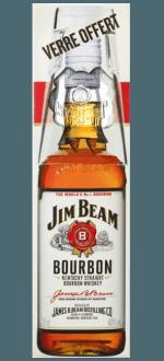 BOURBON JIM BEAM WHITE + 1 VERRE - EN ETUI