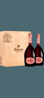 CHAMPAGNE RUINART - BRUT ROSE - COFFRET DUO