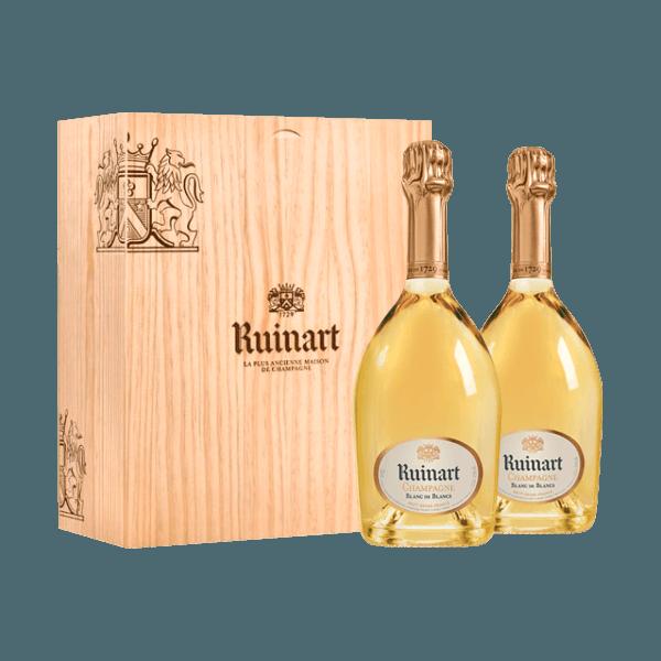 Champagne Ruinart COFFRET DUO Blanc de Blancs au meilleur prix !