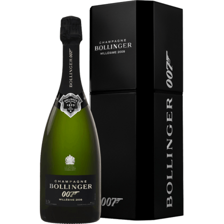 CHAMPAGNE BOLLINGER - COFFRET JAMES BOND 007 - SPECTRE MILLESIME 2009