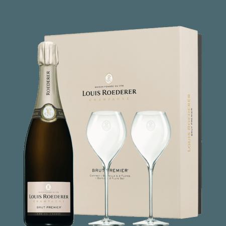 CHAMPAGNE LOUIS ROEDERER - BRUT PREMIER - COFFRET 2 FLUTES