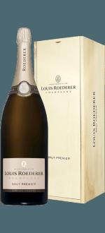 CHAMPAGNE LOUIS ROEDERER - BRUT PREMIER - JEROBOAM - CAISSE BOIS