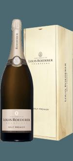 CHAMPAGNE LOUIS ROEDERER - BRUT PREMIER - MATHUSALEM - CAISSE BOIS