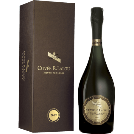 CHAMPAGNE MUMM - CUVEE R. LALOU 2002 - COFFRET PRESTIGE