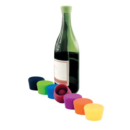 2 BOUCHONS A VIN COULEUR - SILICONE WINE STOPPER - 109-503-00 - PULLTEX