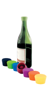 2 BOUCHONS A VIN COULEUR - SILICONE WINE STOPPER - PULLTEX