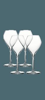 COFFRET 4 VERRES A PIED 23CL - ESPRIT BLANC - PEUGEOT
