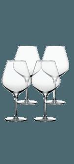 COFFRET 4 VERRES A PIED 40CL - ESPRIT MERLOT - PEUGEOT