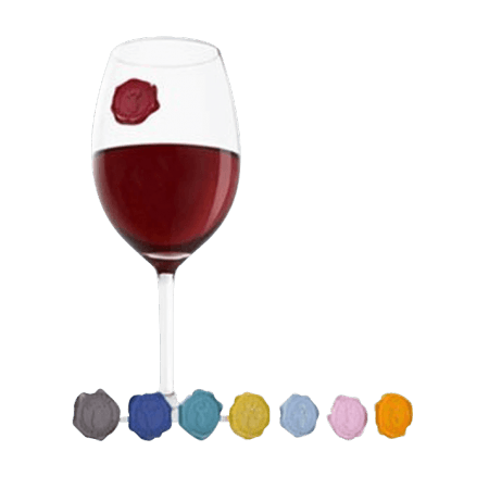 8 MARQUES VERRES - GLASS MARKER CLASSIC GRAPPES - VACUVIN