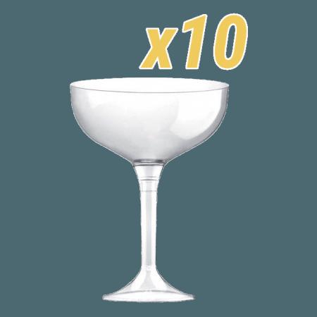 Coupes champagne plastiques lot de 10 - Coupe champagne plastique ...