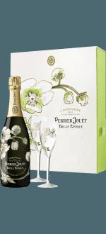 CHAMPAGNE PERRIER JOUËT - BELLE EPOQUE 2007 - COFFRET 2 FLUTES