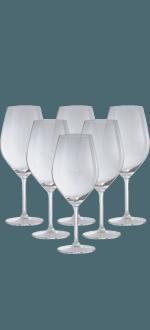 COFFRET 6 VERRES A PIED 62CL EN CRISTALLIN- TUTTOVINO