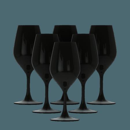 COFFRET 6 VERRES DE DÉGUSTATION 26CL NOIR EN CRISTALLIN - FAVORIT NOIR