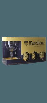 COFFRET TRILOGIE MAREDSOUS 3X33CL + 1 VERRE - ABBAYE DE MAREDSOUS