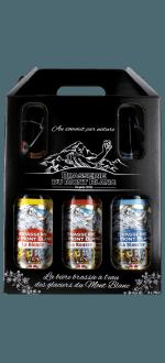 COFFRET BIERES 3 BOUTEILLES 75CL - BRASSERIE DU MONT-BLANC