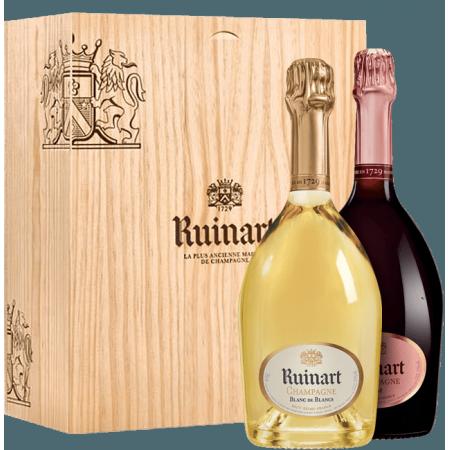 CHAMPAGNE RUINART - BLANC DE BLANC ET ROSE - COFFRET DUO