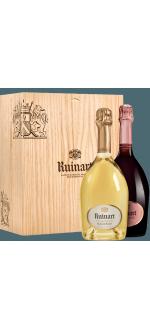 CHAMPAGNE RUINART - BLANC DE BLANCS ET ROSE - COFFRET DUO