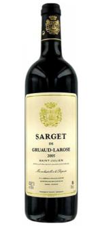 SARGET DE GRUAUD LAROSE 2012 - SECOND VIN DU CHATEAU GRUAUD LAROSE
