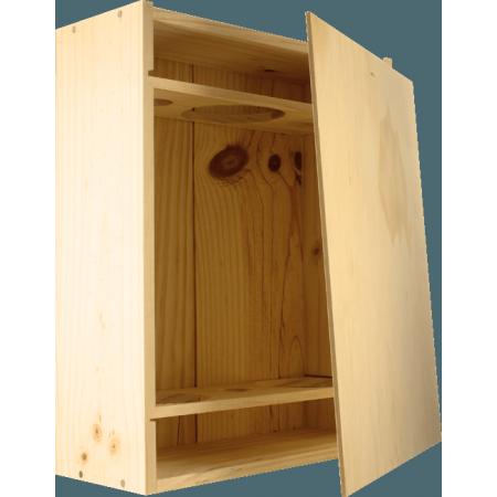caisse bois 3 bouteilles. Black Bedroom Furniture Sets. Home Design Ideas