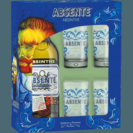 COFFRET ABSENTE + 4 VERRES