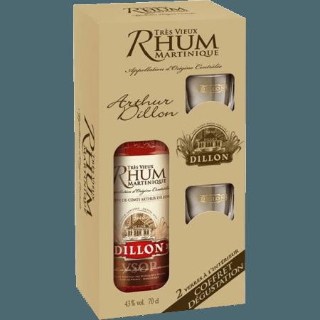 RHUM VIEUX DILLON VSOP - COFFRET 2 VERRES