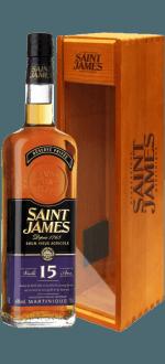SAINT JAMES - RHUM VIEUX AGRICOLE 15 ANS - ETUI BOIS