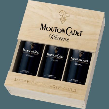 COFFRET 3 BOUTEILLES MOUTON CADET RESERVE PANACHE - BARON PHILIPPE DE ROTHSCHILD