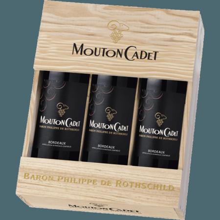 COFFRET 3 BOUTEILLES MOUTON CADET 2015 - BARON PHILIPPE DE ROTHSCHILD