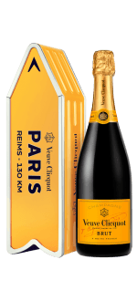 CHAMPAGNE VEUVE CLICQUOT - BRUT CARTE JAUNE - EN COFFRET ARROW