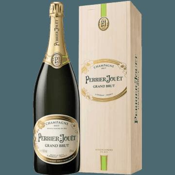 CHAMPAGNE PERRIER JOUËT - GRAND BRUT - JEROBOAM - CAISSE BOIS