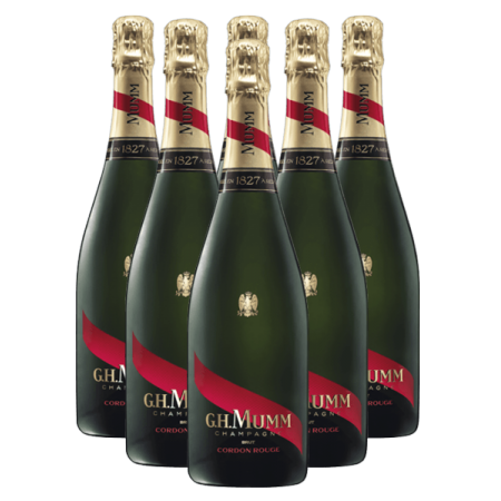 PACK CHAMPAGNE MUMM CORDON ROUGE 6 BOUTEILLES
