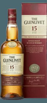 THE GLENLIVET FRENCH OAK 15 ANS - EN COFFRET 2 VERRES