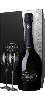 CHAMPAGNE LAURENT-PERRIER - GRAND SIECLE - EN COFFRET 2 VERRES LUXE