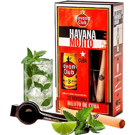 COFFRET MOJITO - RHUM 3 ANS - HAVANA CLUB