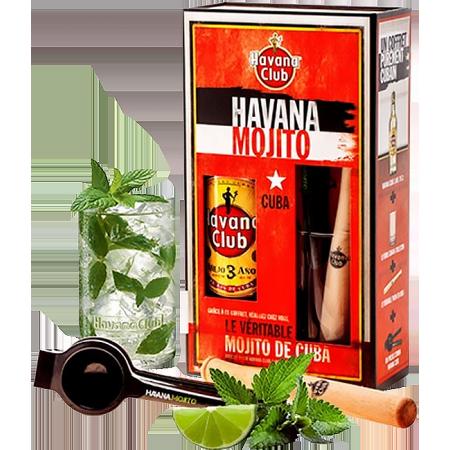 HAVANA CLUB - COFFRET MOJITO - RHUM 3 ANS