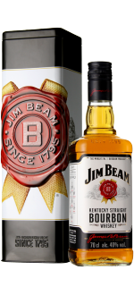 BOURBON JIM BEAM WHITE - COFFRET METAL