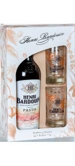 COFFRET PASTIS HENRI BARDOUIN + 2 VERRES