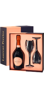 CHAMPAGNE LAURENT-PERRIER - BRUT ROSE - EN COFFRET 2 FLUTES 2019