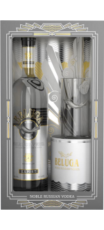 VODKA BELUGA NOBLE + 1 VERRE A COCKTAIL EN COFFRET